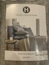 Hotel Collection King Pillowsham Quilted Gray