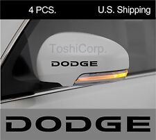 4 DODGE Stickers Decals Wheels Door Handle Wing Mirror Challenger Charger BLACK