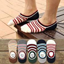 5 Pairs Men Invisible No Show Nonslip Liner Low Cut Cotton Loafer Boat Socks Lot