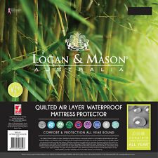LOGAN AND MASON Quilted Air Layer Waterproof Mattress Protector SINGLE BED SIZE