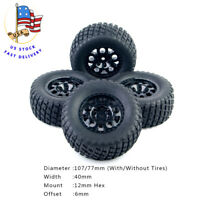 RC 4Pcs 1/10 Short Course Truck Tire and Wheel Rims For 1:10 TRAXXAS SlASH Car
