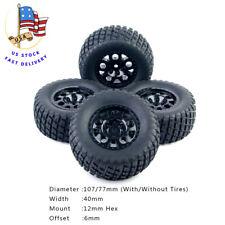 4Pcs 12mm Hex RC Short Course Truck Tire&Wheel Rims For 1:10 TRAXXAS SlASH Car