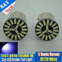 2x BAY15D 1157 Car Tail Stop Brake Light Super Bright 19 SMD LED Bulb 12V 7000K