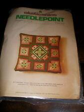 Vintage 1974 STAR BARGELLO Needlepoint PILLOW KIT Columbia Minerva BOYLES Sealed