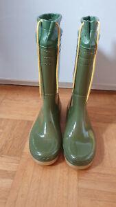 Gummistiefel Romika Boots Stiefel Gr 39 grün RAR Vintage