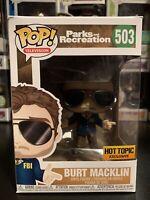 Funko Pop Parks And Recreation: Burt (Bert) Macklin #503 Hot Topic Exclusive