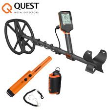 Quest Q30 wasserdichter Metalldetektor + Gratis Quest XPointer Orange