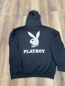 Playboy Hoodie New Size 4XL Black Vinyl Print 4X
