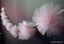Baby shower decoration light pink tulle pom tutu garland 6 ft nursery wall decor