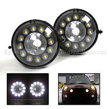EURO STYLE FOG LIGHTS W/ 24 LARGE LED DRL FITS 07+ MINI COOPER R56 R57 R58 R60