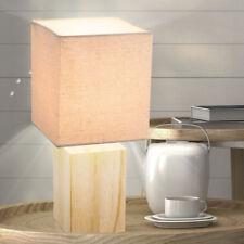 Schreib Tisch Stoff Lampe beige Arbeits Zimmer Beleuchtung Lese Leuchte Holz