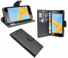Book-Style Case Pouch Wallet Case in Black for HTC One A9s @ Cofi