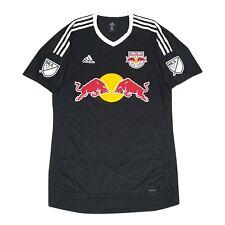New York Red Bulls MLS Adidas Men's Black Short Sleeve Goalkeeper Jersey