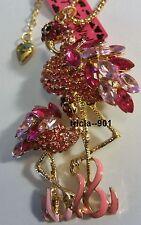 Betsey Johnson Pink Flamingo Necklace & Free Gift