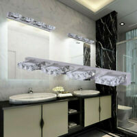Crystal Wall Mirror Vanity Light Fixtures For Bathroom 4 Head LED Vanity Lights
