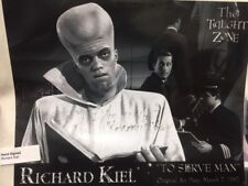 "Richard ""JAWS"" Kiel - Hand Signed - The Twilight Zone ""To Serve Man"" Autograph"