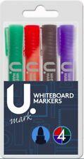 4 X Lápices de pizarra Drywipe marcador de punta de bala, Colores Surtidos-envío mismo día