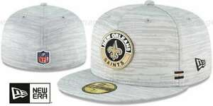 New Orleans Saints New Era Onfield 59Fifty Fitted Light Heather Gray hat cap