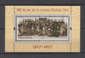 Moldova 2017 Country Council «Sfatul Țării» - 100th Anniversary MNH block