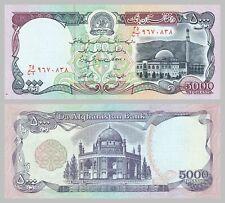 Afghanistan 5000 Afghanis 1993 p62 unz.