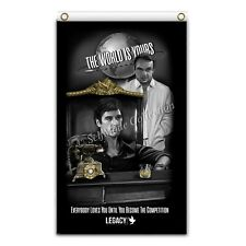 Scarface world is yours 3ftX5ft flag banner mafia legacy art al pacino money