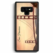 Samsung Galaxy Note 9 Silikon Hülle Cover San Francisco Schriftzug Golden Gate