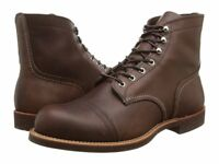 RED WING AMBER HARNESS LEATHER IRON RANGER LACE UP MEN'S BOOTS 8111 BROWN