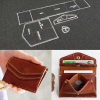 DIY Mini Geldbörse Klar Leder Acryl Muster Coin Purse Schablone Vorlage Werkzeug