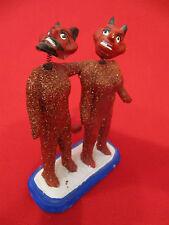RARE Vintage Day Of The Dead DOUBLE Satan Devil Nodder Bobble Heads & Tails