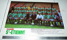CLIPPING POSTER FOOTBALL 1988-1989 AS SAINT-ETIENNE ASSE VERTS CHAUDRON