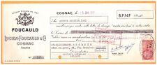 """COGNAC (16) ALCOOL / COGNAC """"Lucien FOUCAULD"""" en 1961"""