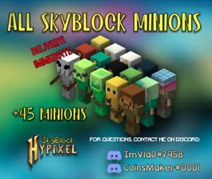Minions Skyblock | 49 minions - unlock all recipes💰