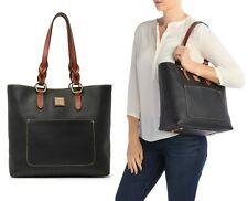 Dooney & Bourke Pebble Grain Leather Pammy Tote Shoulder Bag Handbag in Black