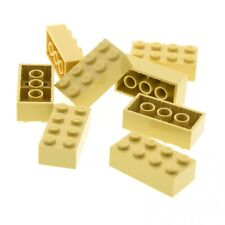 8 x Lego System Bau Stein tan beige 2x4 Basis Star Wars Simpsons Set 7194 5526 7