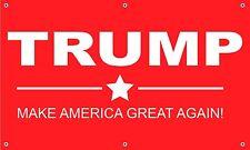 Trump Banner 3'x5' vinyl Politics 2016 election sign