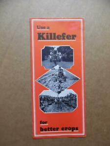 1930 Killefer Manufacturing Co Farm Tractor Implement Brochure Pre-John Deere VG