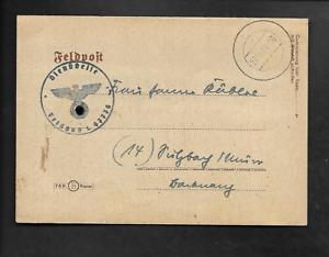 1944 Feldpost Brief mit Inhalt nach Sulzbach