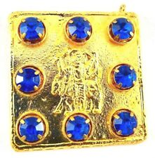 BLUE STONE SHANI STURAN YANTRA PLANET WITH NEELAM BLUE GEMSTONE FOR GOOD LUCK
