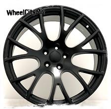 22 inch satin black Hellcat SRT Dodge Charger 2016 2017 OE replica wheels 5x115