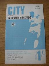 11/08/1967 Manchester City V Borussia Dortmund [freundliche]. keine offensichtliche Fehler, U