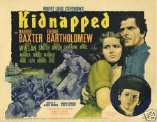 Kidnapped Warner Baxter 1938 vintage movie poster