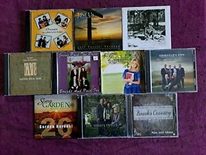 Lot 10 southern Christian country gospel CDs: 8 NEW! Gaither Vocal bluegrass ++