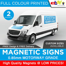 2X Magnetic Signs Motorway Grade Full Colour HD Print Vehicle Lorry Van Car Sign