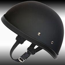 Eagle Novelty Flat Black Motorcycle Half Helmet Cruiser Biker S,M,L,XL,XXL