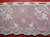 KITCHEN WHITE CAFE NET CURTAIN  PRICE PER METER