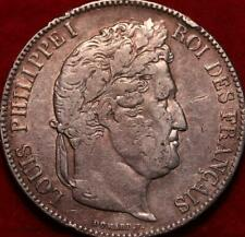 1832 France 5 Francs Silver Foreign Coin