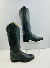 Ladies Justin Gray Leather Round Toe Western Cowgirl Boots Size: 6 A