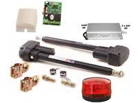 automatisch gesteuerts 2-flügeliges Tor, Trafo, 2 Kanal Steuerung mit Lampe JASL