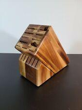 New listing Wustof Wood Block Knife Holder 17 Slot