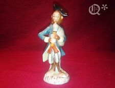 Antique Porcelain Monkey Figurine Playing the Bagpipes